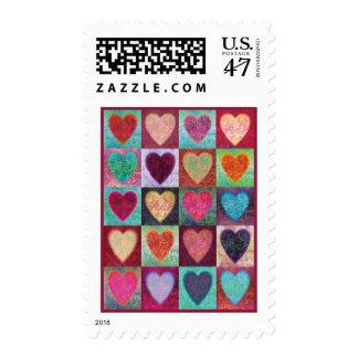 Heart Art Tiles Postage