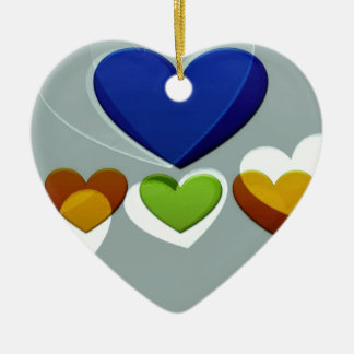 Heart Art | To love is to be vulnerable Ceramic Ornament