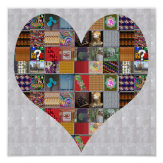 HEART Artistic Collage Blessing  LOWprice NVN521 Poster