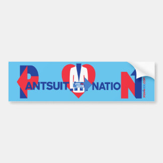 Heart at the Center of Pantsuit Nation Bumper Sticker