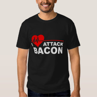 Heart Attack Bacon Funny T-shirt blk