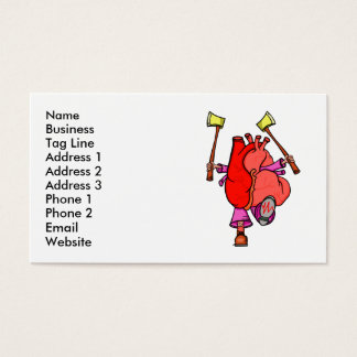 Heart Attack Funny Cartoon Business Card