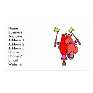 Heart Attack Funny Cartoon Double-Sided Standard Business Cards (Pack Of 100)