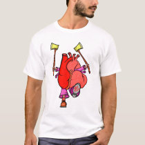 Heart Attack Funny Surreal Cartoon T-Shirt