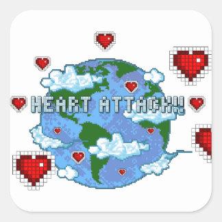Heart Attack!!! Square Sticker