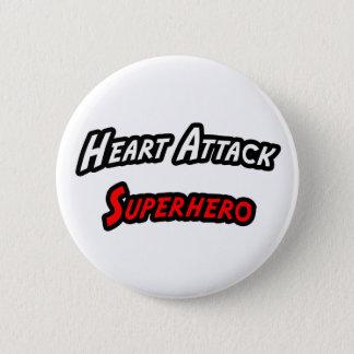 Heart Attack Superhero Button