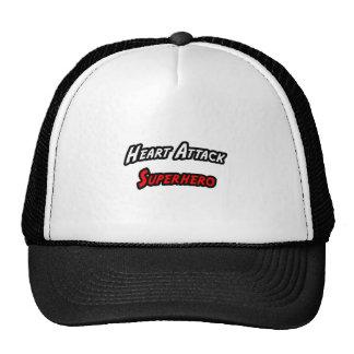 Heart Attack Superhero Trucker Hats