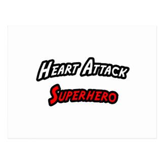 Heart Attack Superhero Post Cards