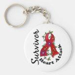 Heart Attack Survivor 15 Key Chain