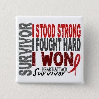 Heart Attack Survivor 4 Heart Disease Button