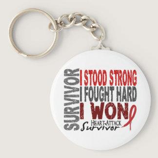 Heart Attack Survivor 4 Heart Disease Keychain