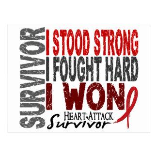 Heart Attack Survivor 4 Heart Disease Postcards