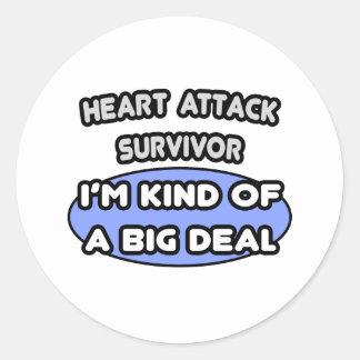 Heart Attack Survivor ... I'm Kind of a Big Deal Classic Round Sticker