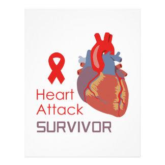 HEART ATTACK SURVIVOR PERSONALIZED LETTERHEAD