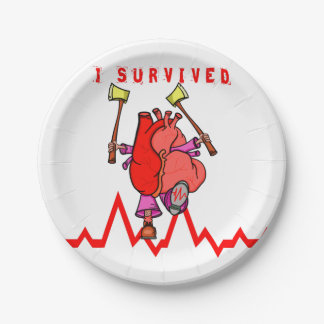 Heart attack survivor paper plate