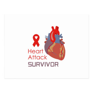 HEART ATTACK SURVIVOR POSTCARD
