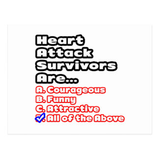 Heart Attack Survivor Quiz Post Cards