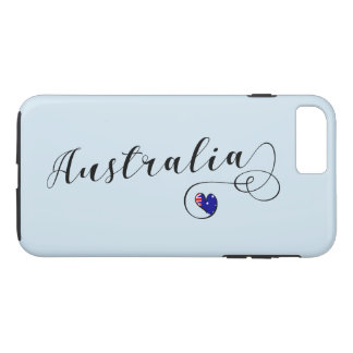 Heart Australia Cell Phone Case, Australian iPhone 8 Plus/7 Plus Case