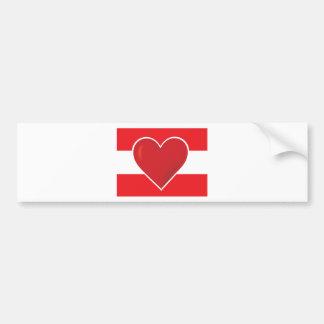 Heart Austria Flag Car Bumper Sticker