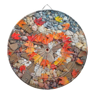 Heart Autumn Leaves Game Room Dart Boards