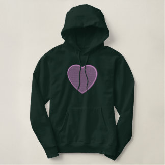 Heart/ Background Embroidered Hoodie