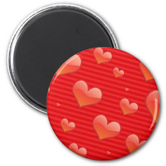 Heart Background Image for Create Your own Design 2 Inch Round Magnet