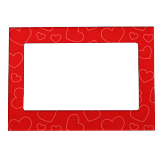 heart background pattern magnetic photo frame