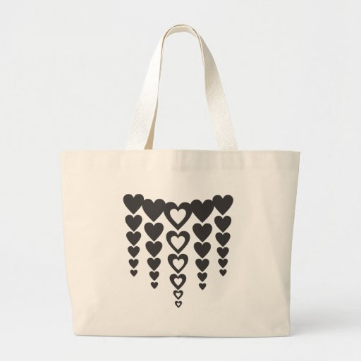 heart canvas bags