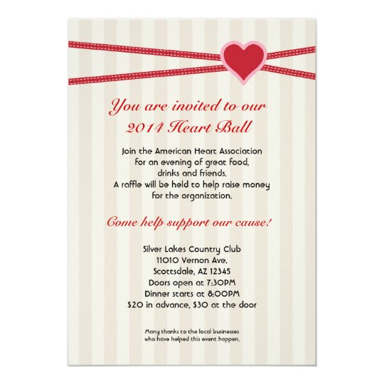 Heart Ball Fundraiser Event Invitation