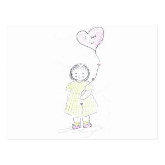 Heart Ballon Postcard