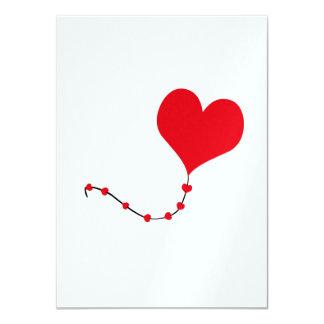 Heart Balloon 4.5x6.25 Paper Invitation Card