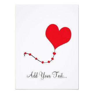 Heart Balloon 6.5x8.75 Paper Invitation Card
