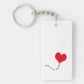 Heart Balloon Acrylic Keychains