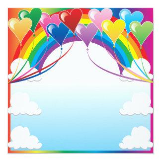 Heart Balloon Background Card
