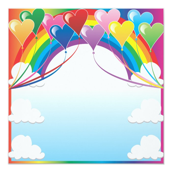 Heart Balloon Background Card
