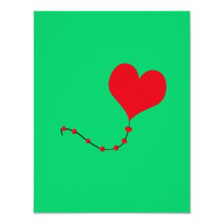 Heart Balloon Custom Invitation