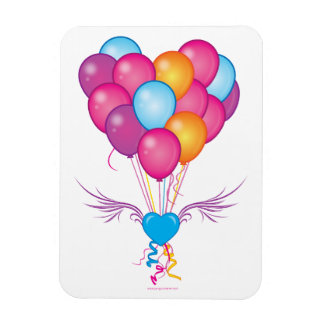 Heart Balloon Magnet with Angels Wings