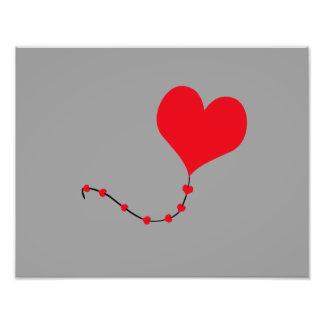 Heart Balloon Photographic Print