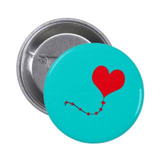 Heart Balloon Pinback Button