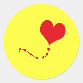 Heart Balloon Round Stickers