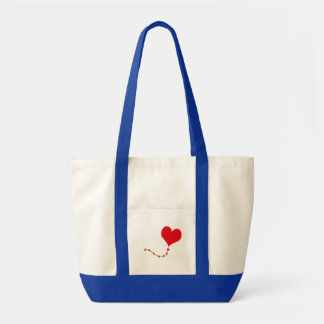 Heart Balloon Tote Bags