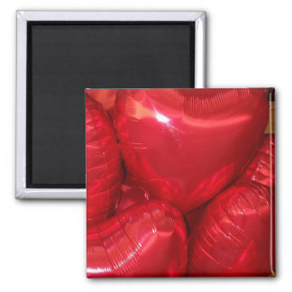 heart balloons 2 inch square magnet