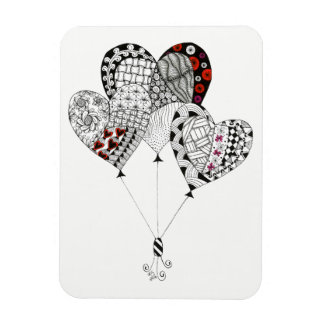 "Heart Balloons 3""x4"" (You can Customize) Magnet"