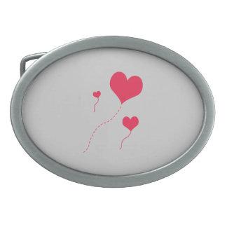 Heart Balloons Belt Buckle