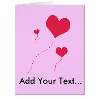 Heart Balloons Cards