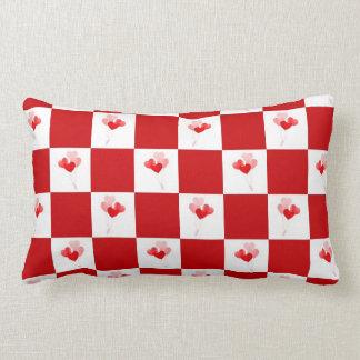 Heart Balloons Checks Design American MoJo Pillow