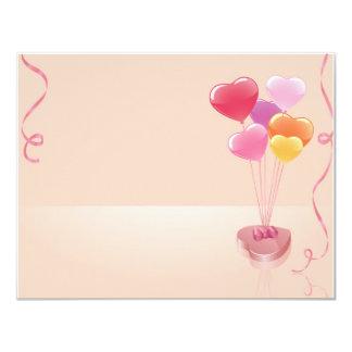 Heart balloons & chocolates card