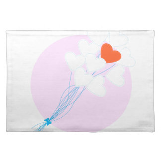 Heart Balloons Cloth Placemat