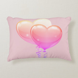 Heart Balloons Collection Accent Pillow