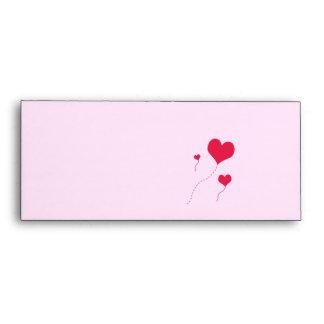 Heart Balloons Envelopes